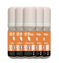 LOT DE 5 E-LIQUID E ONE + 10ML TABAC BLONC 5MG/ML