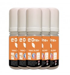 LOT DE 5 E-LIQUID E ONE + 10ML TABAC BLOND 9MG/ML