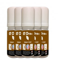 LOT DE 5 E-LIQUID E ONE + 10ML TABAC FORT 0MG/ML