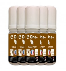 LOT DE 5 E-LIQUID E ONE + 10ML TABAC FORT 5MG/ML