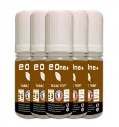 LOT DE 5 E-LIQUID E ONE + 10ML TABAC FORT 9MG/ML