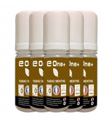 LOT DE 5 E-LIQUID E ONE + 10ML TABAC MENTHE 0MG/ML