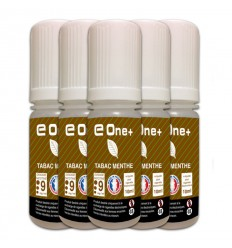 LOT DE 5 E-LIQUID E ONE + 10ML TABAC MENTHE 9MG/ML
