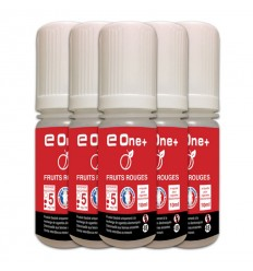LOT DE 5 E-LIQUID E ONE + 10ML FRUIT ROUGE 5MG/ML