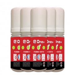 LOT DE 5 E-LIQUID E ONE + 10ML POMME VERTE 0MG/ML