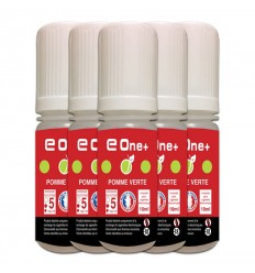 LOT DE 5 E-LIQUID E ONE + 10ML POMME VERTE 5MG/ML