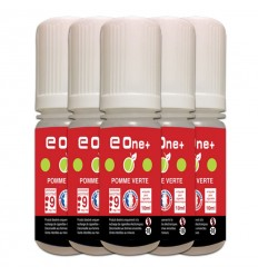 LOT DE 5 E-LIQUID E ONE + 10ML POMME VERTE 9MG/ML