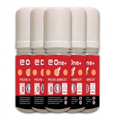 LOT DE 5 E-LIQUID E ONE + 10ML P?CHE ABRICOT 0MG/ML