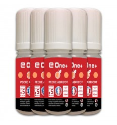 LOT DE 5 E-LIQUID E ONE + 10ML PÊCHE ABRICOT 5MG/ML