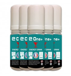 LOT DE 5 E-LIQUID E ONE + 10ML ENERGY DRINK 9MG/ML