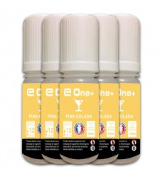 LOT DE 5 E-LIQUID E ONE + 10ML PINA COLADA 12MG/ML