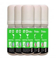 LOT DE 5 E-LIQUID E ONE + 10ML MENTHE FRAICHE 5MG/ML