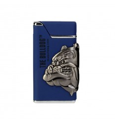 The Bulldog briquet Lighter Shinny bleu