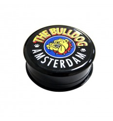 The Bulldog Grinder noir en plastique 3 parts