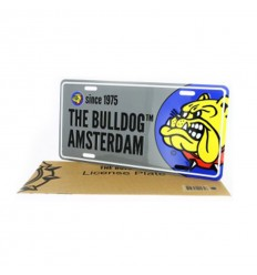 THE BULLDOG PLAQUE LICENCE GRISE DANS SACHET PAPIER