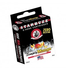 LOT DE 4 CARTOUCHES E-HOSE SIMPLY MANGO STARBUZZ