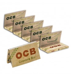 OCB BIO LOT DE 10 CARNETS CHANVRE REGULAR (100F/CARNET)