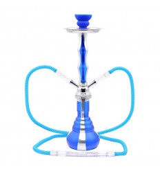ATOMIC WATER PIPE 45 CM 2 TUBES BLUE/SILVER