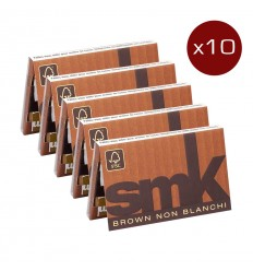 LOT DE 10 CARNETS SMK FEUILLES BROWN (32F/CARNET)