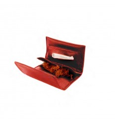 CHAMP - BLAGUE A TABAC CUIR A GRAIN 11,5X7,5CM DL-12 - MARRON