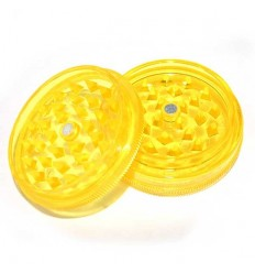 GRINDER ACRYLIQUE 2 PARTS DIAM 50MM JAUNE