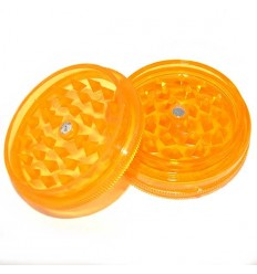 GRINDER ACRYLIQUE 2 PARTS DIAM 50MM ORANGE