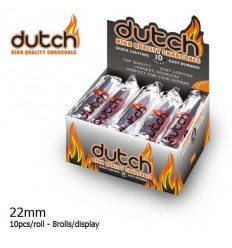 DUTCH - SACHET DE 10PCS DE CHARBON CHICHA 22MM ALLUMAGE RAPIDE