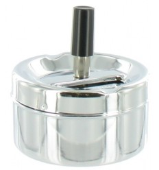 MINI CENDRIER POUSSOIR 9CM - CHROME