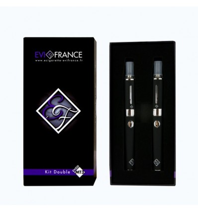 E-CIGARETTE EGO FRANCE DOUBLE KIT MT3-E-VOD NOIR