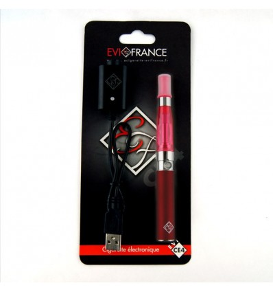 E-CIGARETTE EGO FRANCE EGO-CE4 BLISTER 650MAH ROUGE