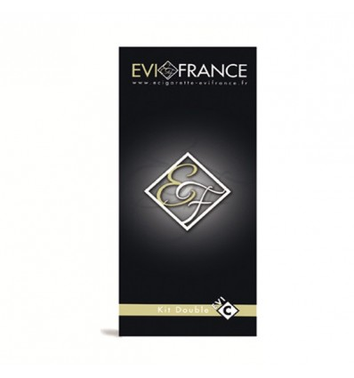 E-CIG EVI FRANCE EVI-C COFFRET DOUBLE KIT BLANC