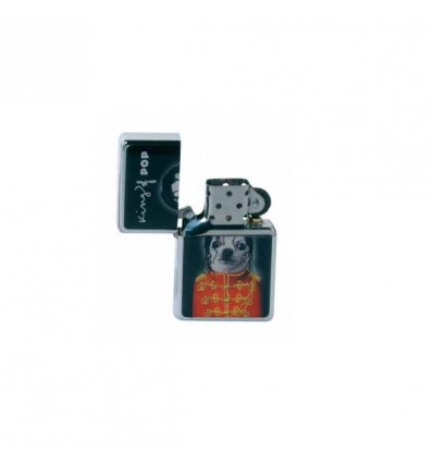 PETS ROCK - BRIQUET TYPE ZIPPO DL-12 - KING OF POP - NOIR
