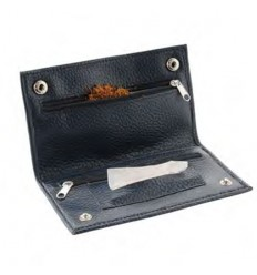 CHAMP - BLAGUE A TABAC CUIR A GRAIN 16X8.5CM DL-12 - NOIR