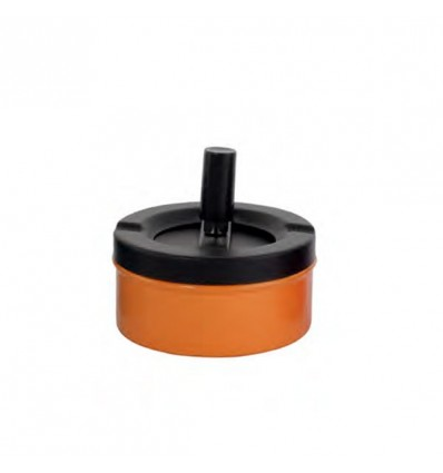 CHAMP - CENDRIER POUSSOIR NOIR DL-12 - ORANGE