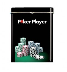 BOITE CIGARETTES - POKER PLAYER PILES DE JETONS MULTICOLORES