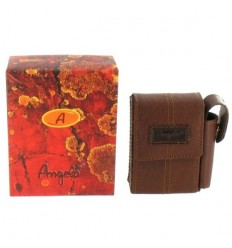 HOUSSE EN CUIR ANGELO PR PAQUET DE CIGARETTES - MARRON