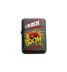 "BELFLAM OIL - LE BRIQUET ESSENCE DESIGN COMIQUE BD ""CRASH BOOM"" MODELE 1"