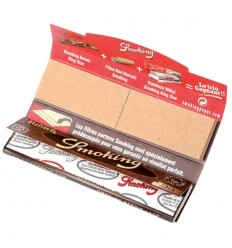 SMOKING CARNET FEUILLES+CARTONS BROWN KING SIZE (33F/CARNET)
