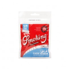 SMOKING SACHET DE FILTRES ACETATE SLIM BLUE 6MM (120F/SACHET)