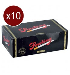 SMOKING LOT DE 10 BTES DE 100 TUBES VIDES DELUXE