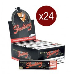 SMOKING BTE DE 24 CARNETS FEUILLES+CARTONS DELUXE KING SIZE (33F/CARNETS)
