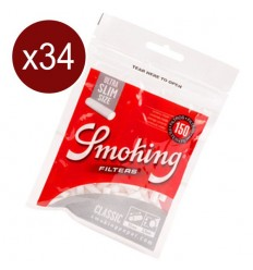 SMOKING BTE DE 34 SACHETS DE 150 FILTRES ULTRA SLIM 5.3MM