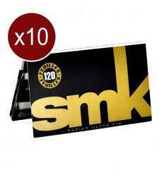LOT DE 10 CARNETS FEUILLES SMK REGULAR DOUBLE (120F/CARNET)