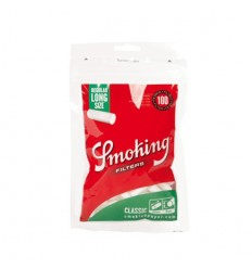 SMOKING SACHET DE FILTRES ACETATE XTRA LONG GREEN 8MM (100F/SACHET)