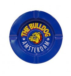 THE BULLDOG CENDRIER METAL BLEU